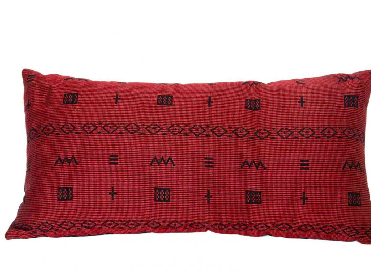 Pomegranate Cross Cushion Crafted in Senegal, Tailored in Italy-0