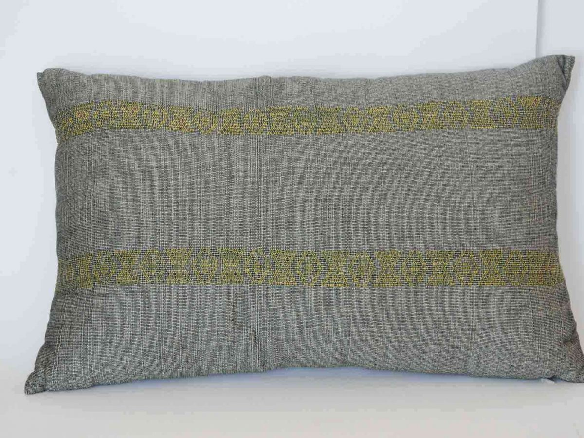 Como Cushion Crafted in Senegal, Tailored in Italy-0
