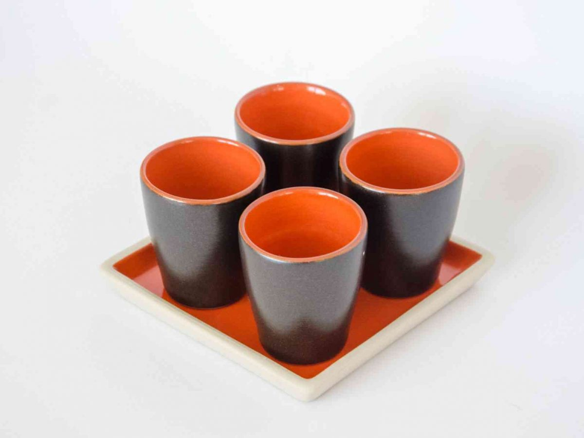 "Set of 4 Cups ""MIO TUO"" - Handmade in Italy-0"