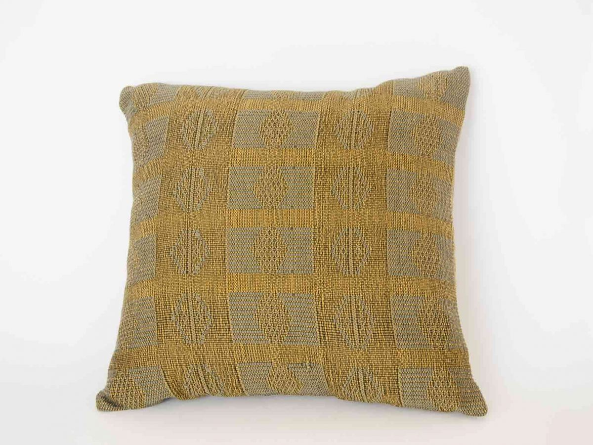 Military Wool Pillow Crafted in Senegal, Tailored in Italy-0