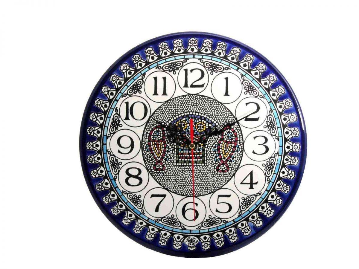 Armenian Ceramics Wall Clock -0