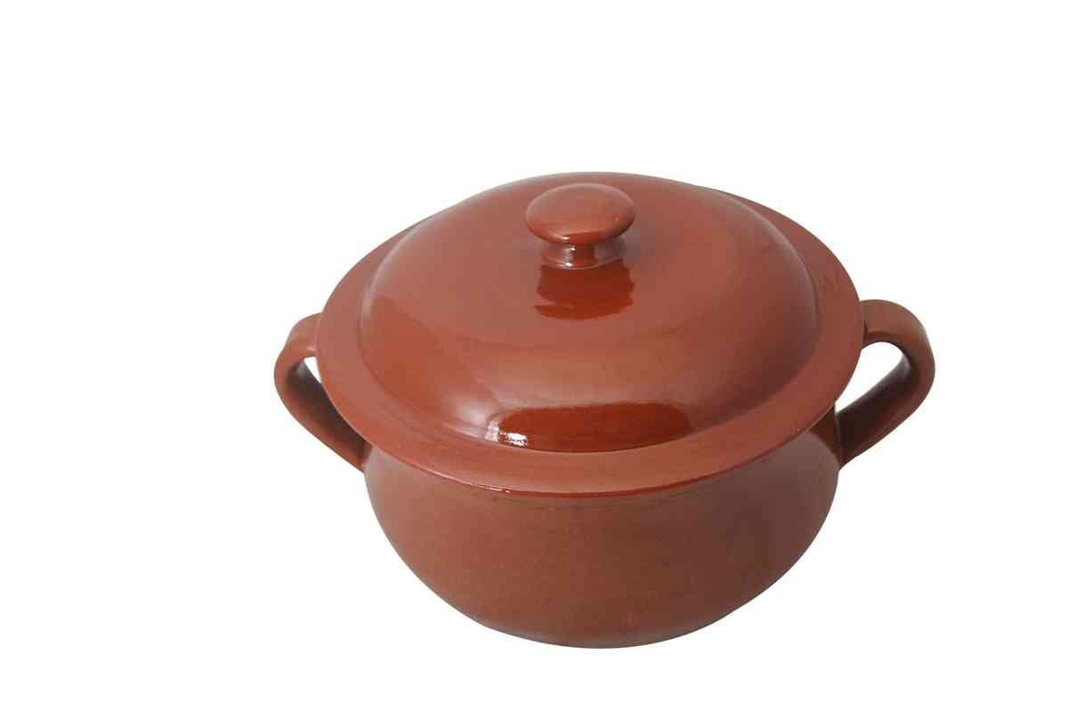 Clay Round Pot - Handmade in Italy-0