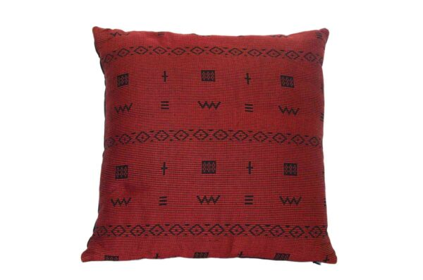 Pomegranate Cross Pillow Crafted in Senegal, Tailored in Italy-0