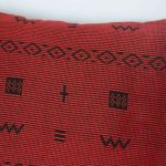 Pomegranate Cross Pillow Crafted in Senegal, Tailored in Italy-695