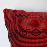 Pomegranate Cross Pillow Crafted in Senegal, Tailored in Italy-696