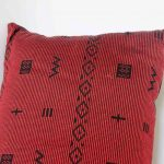 Pomegranate Cross Pillow Crafted in Senegal, Tailored in Italy-697