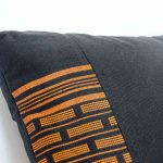 Orange Carrot Black Pillow Inspired by Senegal Craft, Made in Italy-726