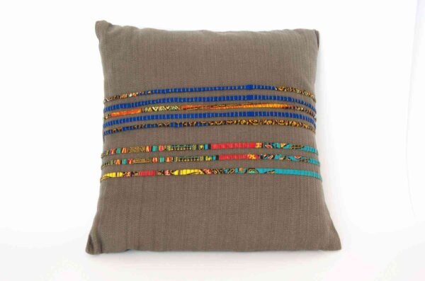 Dar es Salam Pillow Inspired by Tanzania, Tailored in Italy-0