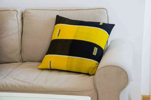 Danfani Cushion Inspired by Burkina Faso, Tailored in Italy-0