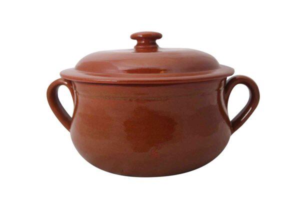 Clay Round Pot - Handmade in Italy-0