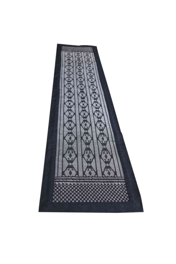 Colobane Black Diamond Shapes Runner Crafted in Senegal, Tailored in Italy-0