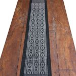 Colobane Black Diamond Shapes Runner Crafted in Senegal, Tailored in Italy-102