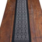Colobane Black Diamond Shapes Runner Crafted in Senegal, Tailored in Italy-103