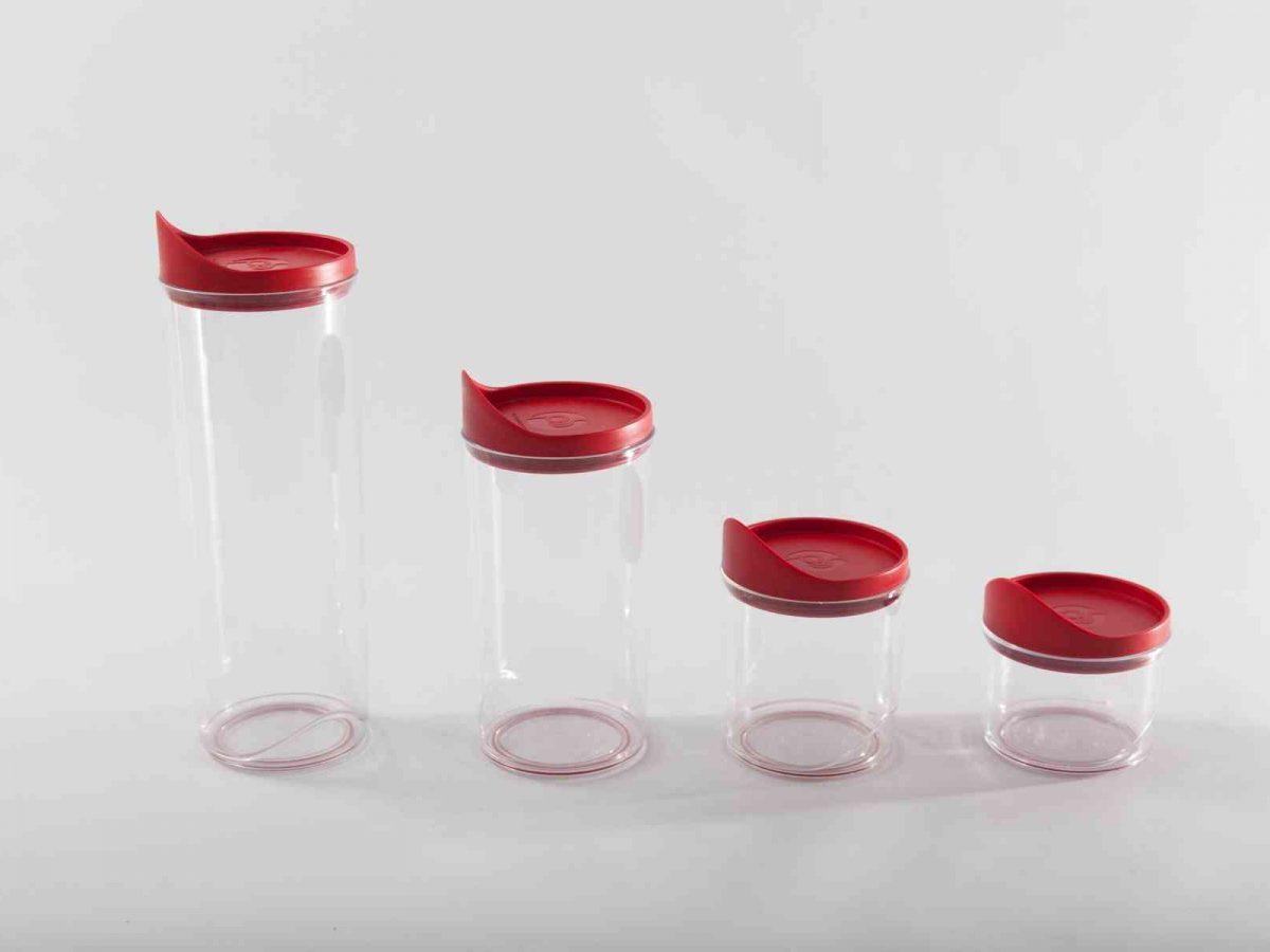 Harmonia Plastic Food Jar set Dark red-0