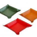 Svuota tasche square leather pocket tray medium - handmade in Italy-0