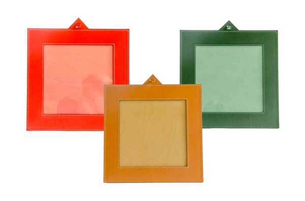 Natural Leather Photo Frame - Handmade in Italy-0