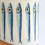 White Ceramic Anchovy Salty Pot - Handmade in Italy-998
