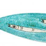 Ceramic Narrow Oval Tray - Handmade in Italy-1027