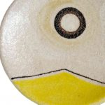 Yellow Ceramic Wall Plate - Handmade in Italy-982