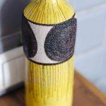 Yellow Ceramic Bottle - Handmade in Italy-972