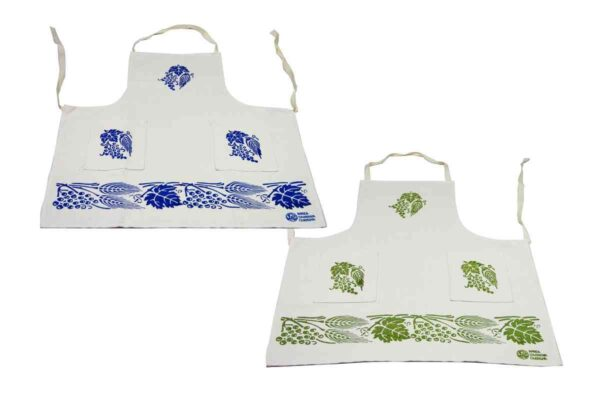Wheat Motif Hand-printed Aprons - Handmade in Italy-0
