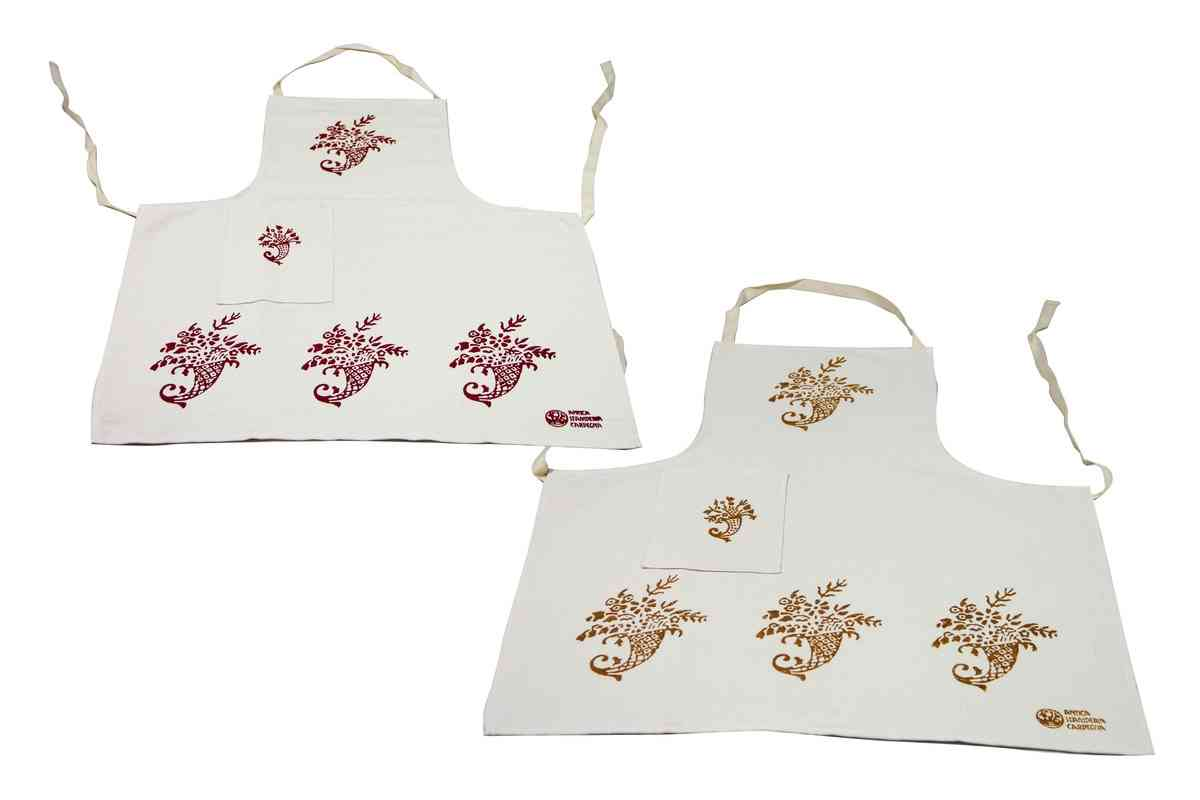 Cornucopia One Pocket Aprons - Handmade in Italy-0
