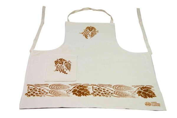 Golden Wheat One Pocket Apron - Handmade in Italy-0