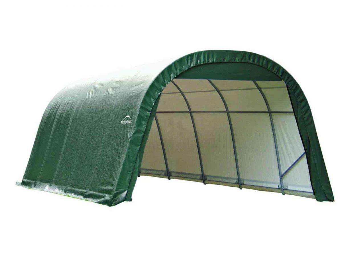 Shelter Logic Round Top Garage in a box 22.57 sqm-0
