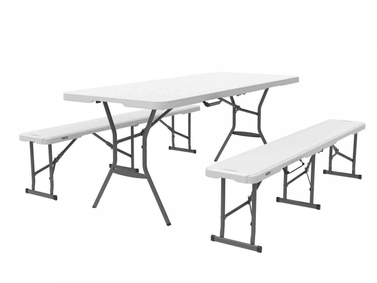 Lifetime Foldable Bench and Table Set-0