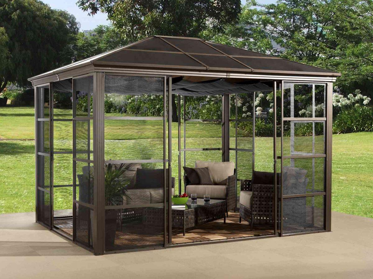 Sojag Aluminum Pavilion - winter garden Castel -0