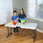 Lifetime plastic table - height adjustable-1985