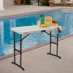 Lifetime plastic table - height adjustable-1986