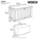 Lifetime Cushion box dark brown - 440 l-1956
