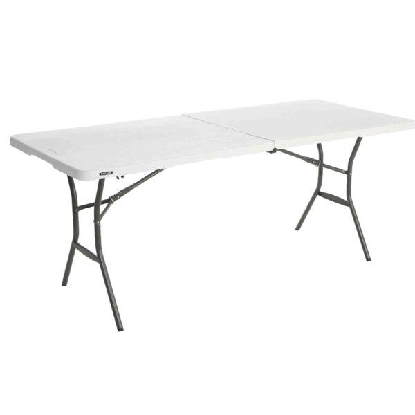Lifetime large plastic table - height adjustable-0