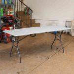 Lifetime large plastic table - height adjustable-1990