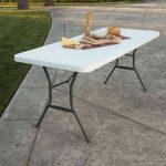 Lifetime large plastic table - height adjustable-1988