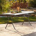 Lifetime large plastic table - height adjustable-1989
