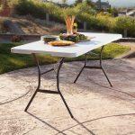 Lifetime large plastic table - height adjustable-1992
