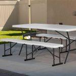 Lifetime Foldable Bench and Table Set-1979