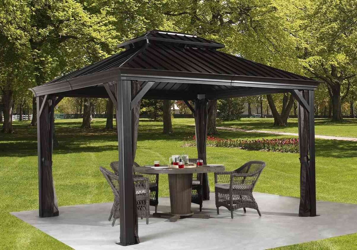 Sojag Aluminum Pavillon Messina BBQ anthracite-0