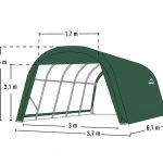 Shelter Logic Round Top Garage in a box 22.57 sqm-1689