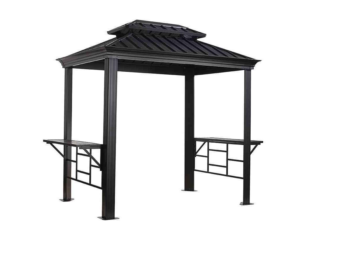 Sojag Aluminium Pavillon Messina BBQ anthrazit-0