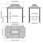 Sojag Aluminium Pavillon Messina BBQ anthrazit-1877