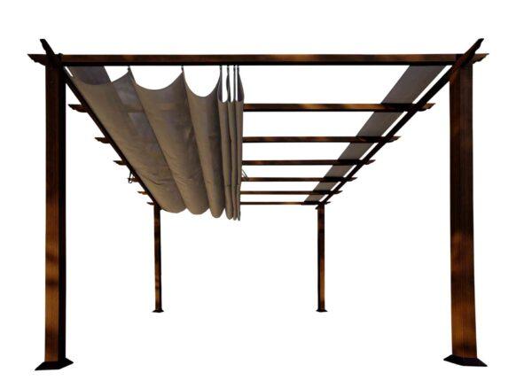 Paragon Pavilion Gazebo Florida - dark brown-0