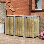 Hide garbage bin - 140L volume-2095