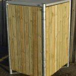 Hide garbage bin - 140L volume-2097