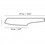 Single Piece Stainless Steel Santoku Knife-2271