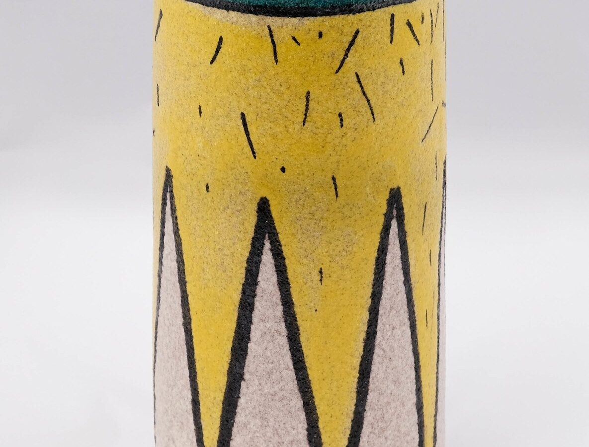 Vietri Yellow Vase-0