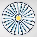 Round Anchovies Serving Plate-2295