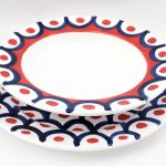 Set of Blue and Red Vietri Plates-2289